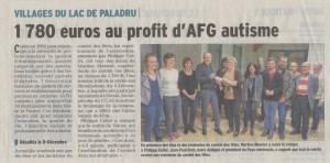 Article remise de chèque AFG autisme